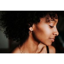 Load image into Gallery viewer, woman wearing DIAMOND JACKET EARRINGS, GOLD/SILVER
