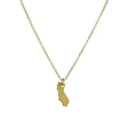 i love california necklace in gold