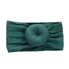Load image into Gallery viewer, KNIT BUN HEADBAND EMERALD