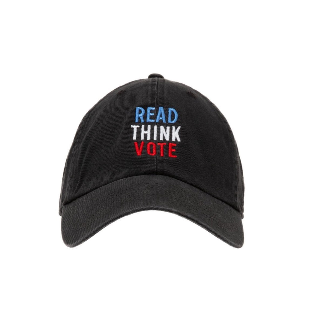 READ THINK VOTE HAT  front facing