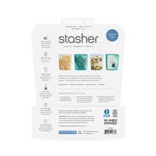 Load image into Gallery viewer, BACK OF HALF GALLON STASHER PACKAGING