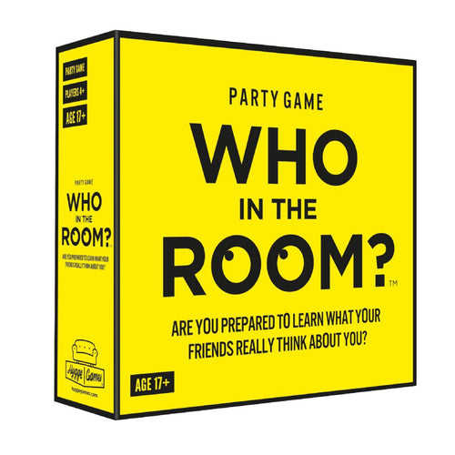 WHO IN THE ROOM front of box