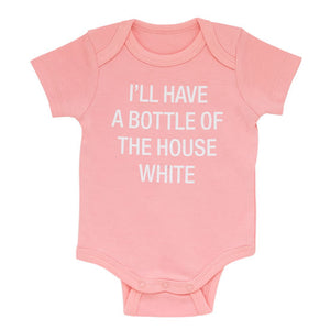 PINK BOTTLE OF HOUSE WHITE ONESIE