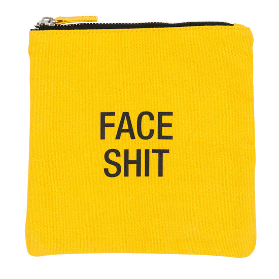 YELLOW SQUARE FACE SHIT POUCH