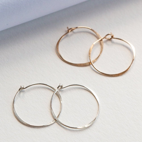 LUCCA EARRINGS IN 14K GOLD FILL AND STERLING SILVER