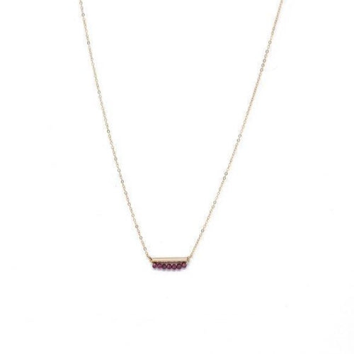 JANUARY GARNET NECKLACE