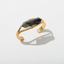 Load image into Gallery viewer, LABRADORITE CRYSTAL CUFF BRACELET