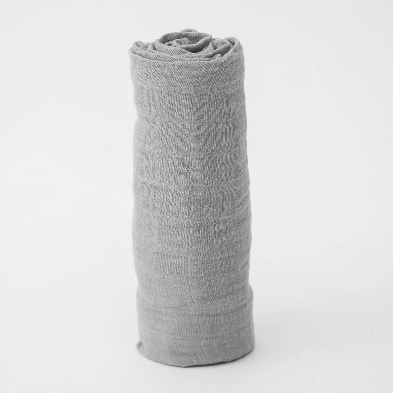 NICKEL COTTON MUSLIN SWADDLE ROLLED UP