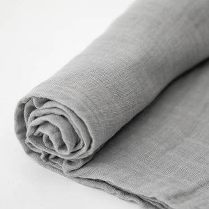 NICKEL COTTON MUSLIN SWADDLE CLOSE UP