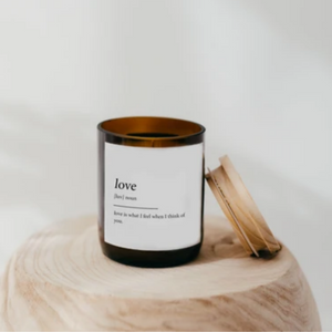 LOVE - DICTIONARY SOY CANDLE