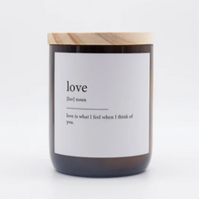 Load image into Gallery viewer, LOVE - DICTIONARY SOY CANDLE