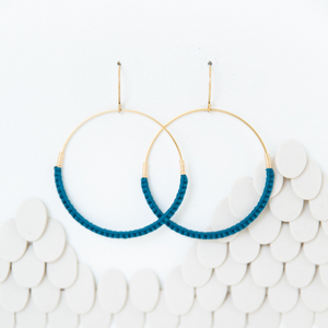 JADE MACRAME HOOP EARRINGS