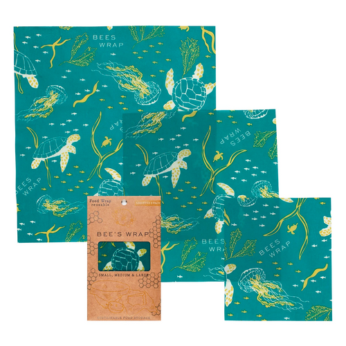 OCEANS PRINT BEESWAX 3-PACK