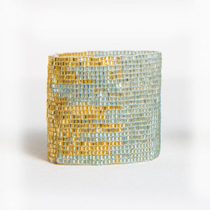 BEADED STRETCH BRACELET SKY/GOLD