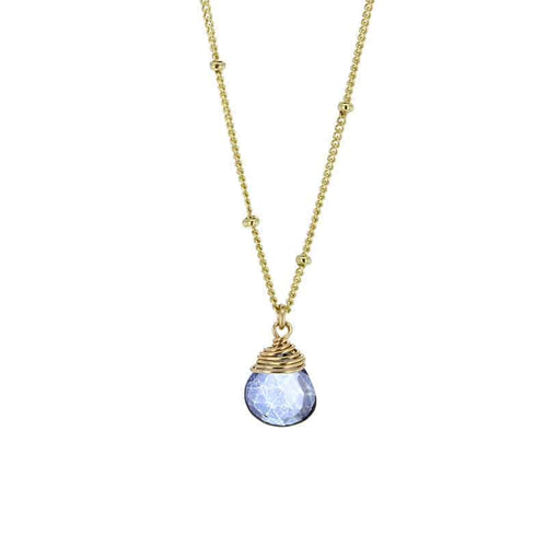 purple mystic topaz gemstone necklace