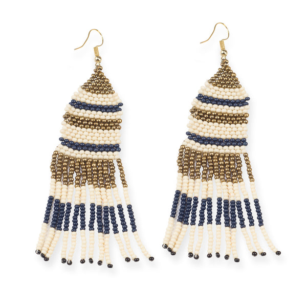 MULTI STRIPE BEADED EARRINGS