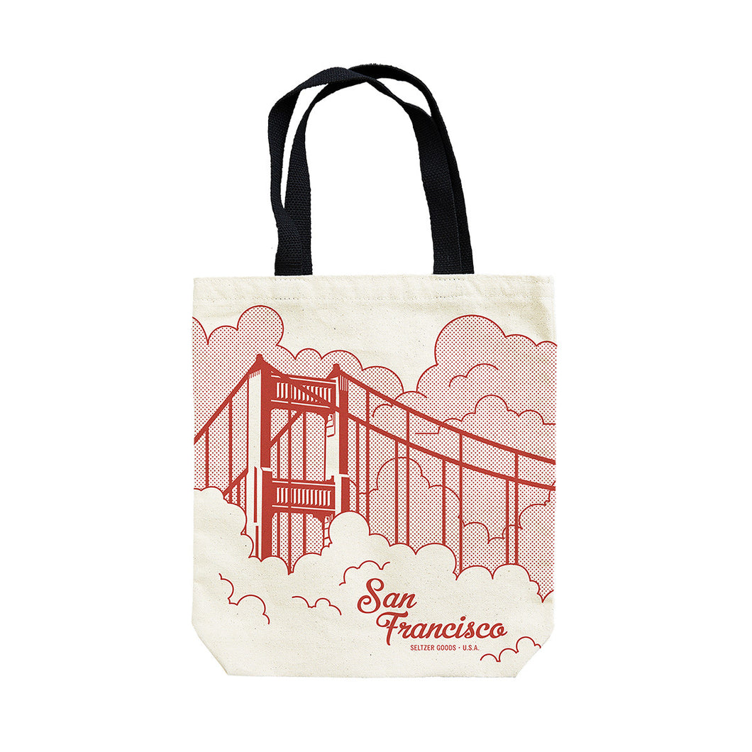 SF BRIDGE CLOUDS TOTE