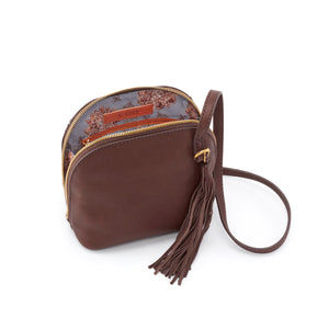 INTERIOR OF NASH CROSSBODY BAG IN WALNUT