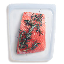 Load image into Gallery viewer, CLEAR HALF GALLON STASHER FILLED WITH SALMON