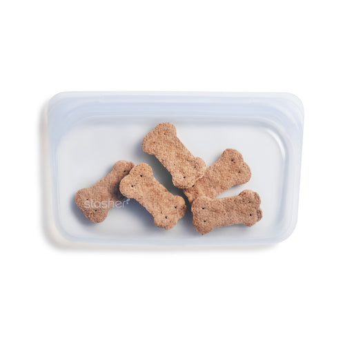 CLEAR SNACK STASHER FILLED WITH DOG TREATS