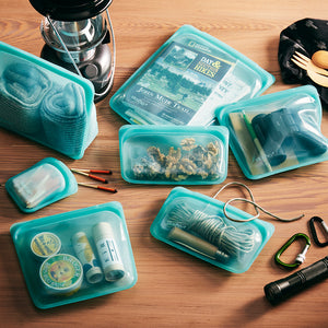 AQUA SNACK STASHERS WITH CAMPING SUPPLIES