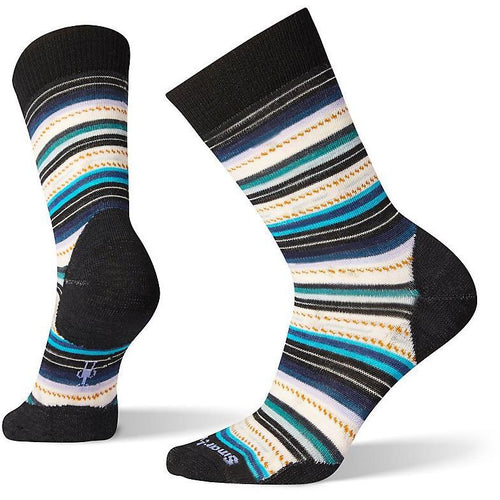 MARGARITA CREW WOOL SOCKS BLACK & DEEP NAVY