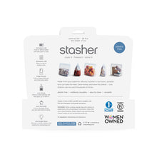 Load image into Gallery viewer, BACK OF STAND UP BAG STASHER PACKAGING