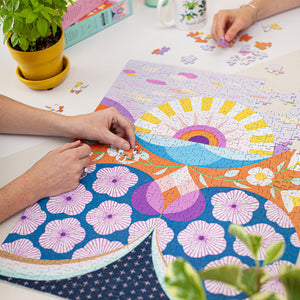 COMPLETED SUNSHINE FLOWERS PUZZLE