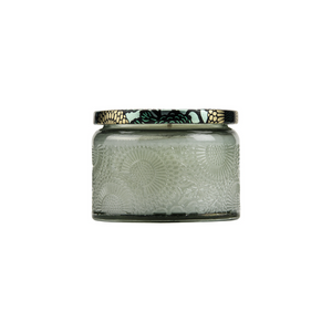 SIDE VIEW SMALL GLASS JAR | FRENCH CADE & LAVENDER