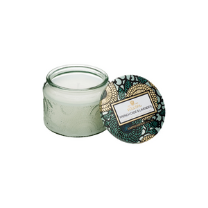 OPEN SMALL GLASS JAR | FRENCH CADE & LAVENDER