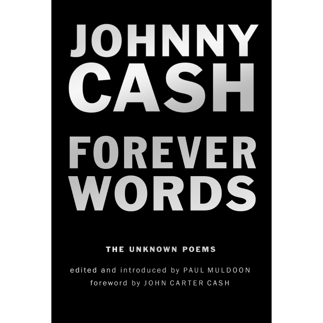JOHNNY CASH FOREVER WORDS POETRY BOOK