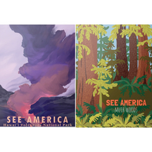 Load image into Gallery viewer, EXAMPLE OF INSIDE POSTERS OF SEE AMERICA