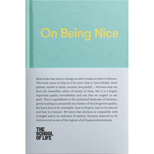 ON BEING NICE FRONT COVER