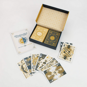 ILLUMINATED PLAYING CARDS INSIDE COMPONENTS