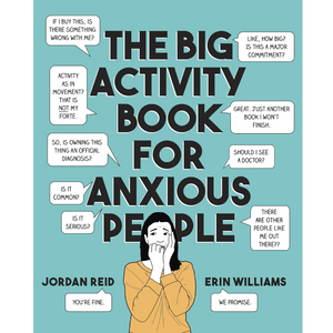 THE BIG ACTIVITY BOOK FOR ANXIOUS PEOPLE FRONT COVER