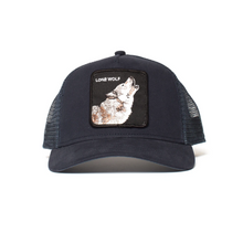 Load image into Gallery viewer, LONE WOLF TRUCKER HAT FRONT VIEW