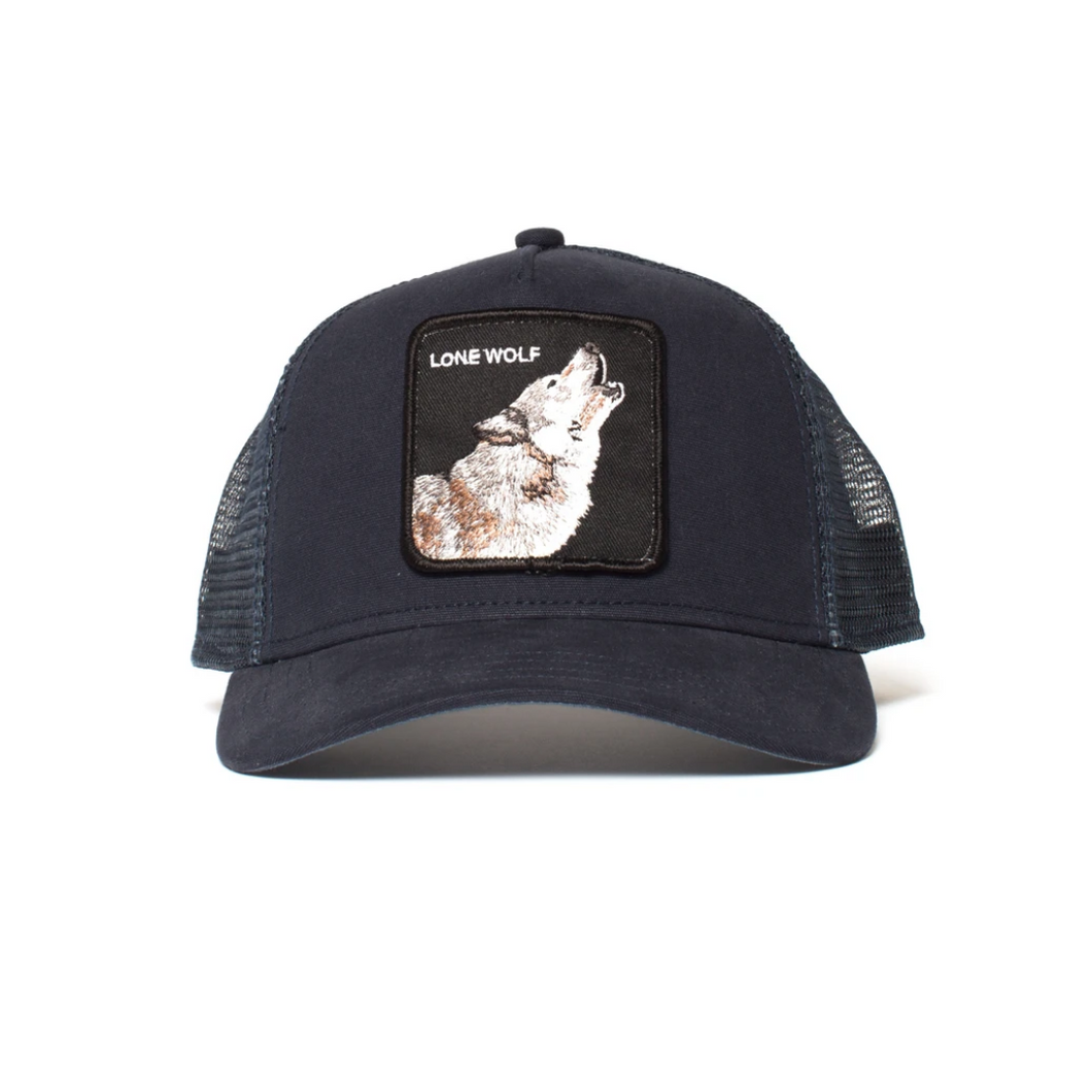 LONE WOLF TRUCKER HAT FRONT VIEW