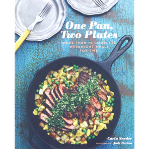 ONE PAN TWO PLATES COOKBOOK FRONT COVER