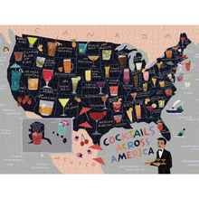 Load image into Gallery viewer, COCKTAILS ACROSS AMERICA PUZZLE COMPLETED