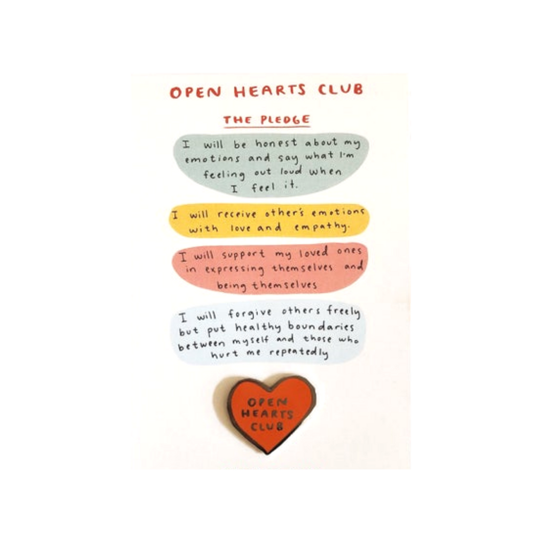 OPEN HEARTS CLUB PIN