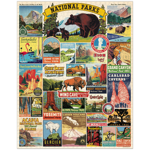 VINTAGE NATIONAL PARKS PUZZLE COMPLETED