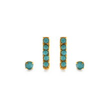 Load image into Gallery viewer, VICTORIAN STUDS EARRING SET turquoise