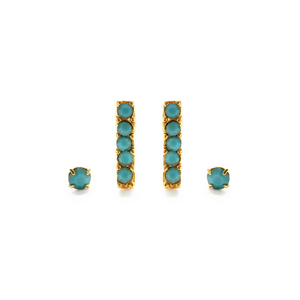 VICTORIAN STUDS EARRING SET turquoise