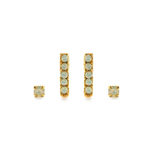 Load image into Gallery viewer, VICTORIAN STUDS EARRING SET opal