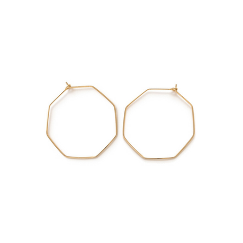 OCTAGON HOOPS GOLD