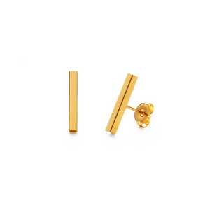 GOLD BAR STUD EARRINGS