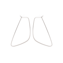 Load image into Gallery viewer, SILVER ASYMMETRICAL HOOPS