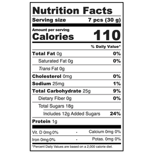 PEACH BELLINI HEARTS NUTRITION FACTS