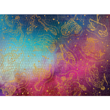 Load image into Gallery viewer, ASTROLOGICAL SIGNS FOIL PUZZLE completed