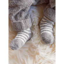 Load image into Gallery viewer, BABY WEARING COZY CHIC INFANT SOCKS 3-PACK | PEWTER